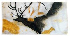 Lascaux Megaceros Deer Hand Towel