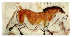 Lascaux Prehistoric Horse Bath Towel