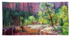 Last Light In Zion Hand Towel