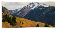 Last Light Of Autumn Hand Towel by David Chandler