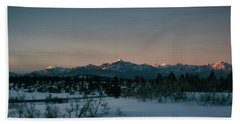Last Light On Pagosa Peak Hand Towel