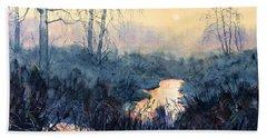 Last Light On Skipwith Marshes Hand Towel
