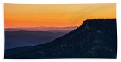 Hand Towel featuring the photograph Last Light On The Rim  by Saija Lehtonen