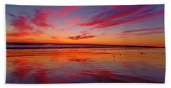 Last Light Topsail Beach Hand Towel by Betsy Knapp