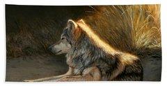 Last Light - Wolf Bath Towel