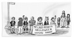 Last-minute Halloween Costume Parade Bath Towel