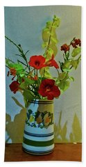 Last Of Summer Hand Towel by Anne Kotan