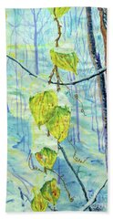Last Of The Leaves Hand Towel