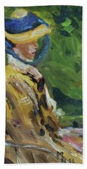 Last Portrait Of His Wife Suzanne., After Manet Bath Towel