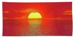 Bath Towel featuring the painting Last Sunset by Harry Warrick