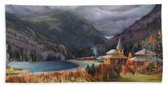 Last Train To Crawford Notch Depot Bath Towel