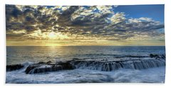 Late Afternoon In Laguna Beach Hand Towel by Eddie Yerkish