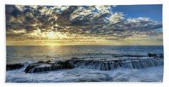 Late Afternoon In Laguna Beach Bath Towel by Eddie Yerkish