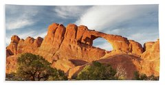 Late Afternoon Light On Skyline Arch Hand Towel