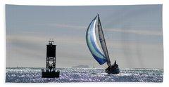 Late Afternoon Sail Bath Towel
