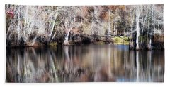 Late Autumn Along The Waccamaw River Hand Towel