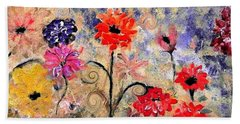 Late Autumn Floral Mum Surprise By Lisa Kaiser Hand Towel