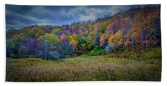 Late Fall On Green Knob Trail Hand Towel