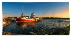 Late In The Day At Fisherman's Cove  Hand Towel by Ken Morris