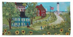 Hand Towel featuring the painting Late July by Virginia Coyle