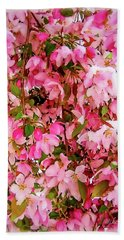 Late Snow Early Flowers Hand Towel
