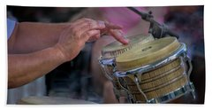 Latin Jazz Musician Hand Towel
