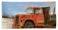 Hand Towel featuring the photograph Latsha Lumber Truck by Lori Deiter