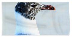 Laughing Gull Profile Bath Towel