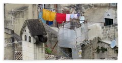 Bath Towel featuring the photograph Laundry Day In Matera.italy by Jennie Breeze