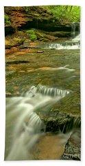 Laurel Highlands Waterfall Portrait Hand Towel