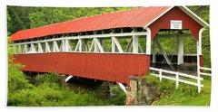 Laurel Hill Creek Covered Bridge Hand Towel