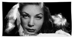 Lauren Bacall Publicity Photo Circa 1945-2015 Hand Towel