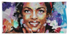 Hand Towel featuring the painting Lauryn Hill by Richard Day