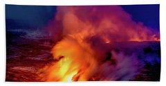 Lava And Ocean At Dawn Hand Towel by Allen Biedrzycki