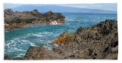 Lava Coastline - West Maui Bath Towel