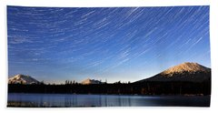 Hand Towel featuring the photograph Lava Lake Star Trails by Cat Connor