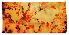 Lava World Map Bath Towel