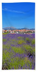 Lavendar Of Provence Hand Towel by Corinne Rhode