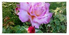 Lavendar Rose Bath Towel by Sadie Reneau