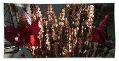 Lavender And Grape Leaves Illuminated By The Fall Sun Hand Towel