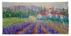 Lavender And Village Of Provence Bath Towel