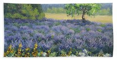 Lavender And Wildflowers Hand Towel by Karen Ilari