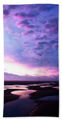 Hand Towel featuring the photograph Lavender Beach Sunset by Tyra OBryant