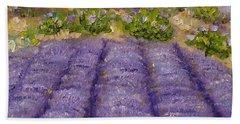 Lavender Field Bath Towel by Judith Rhue