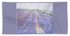 Lavender Fields Provence-france Bath Towel