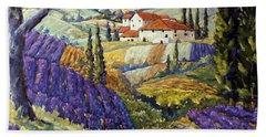 Lavender Fields Tuscan By Prankearts Fine Arts Hand Towel