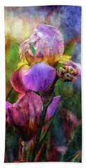 Lavender Iris Impression 0056 Idp_2 Bath Towel