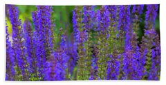 Bath Towel featuring the digital art Lavender Patch by Chris Flees