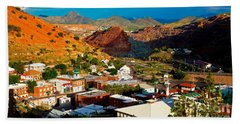 Lavender Pit In Historic Bisbee Arizona  Bath Towel