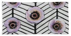 Lavender Poppies Bath Towel by Elizabeth Robinette Tyndall